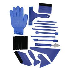 21 sztuk zestaw Auto folia barwiąca skrobak ściągaczka nóż do wycinania folia zaciemniająca okna zestaw narzędzi Vinyl samochodów Film owijania zestaw narzędzi niebieski czerwony tanie tanio Vorcool CN (pochodzenie)
