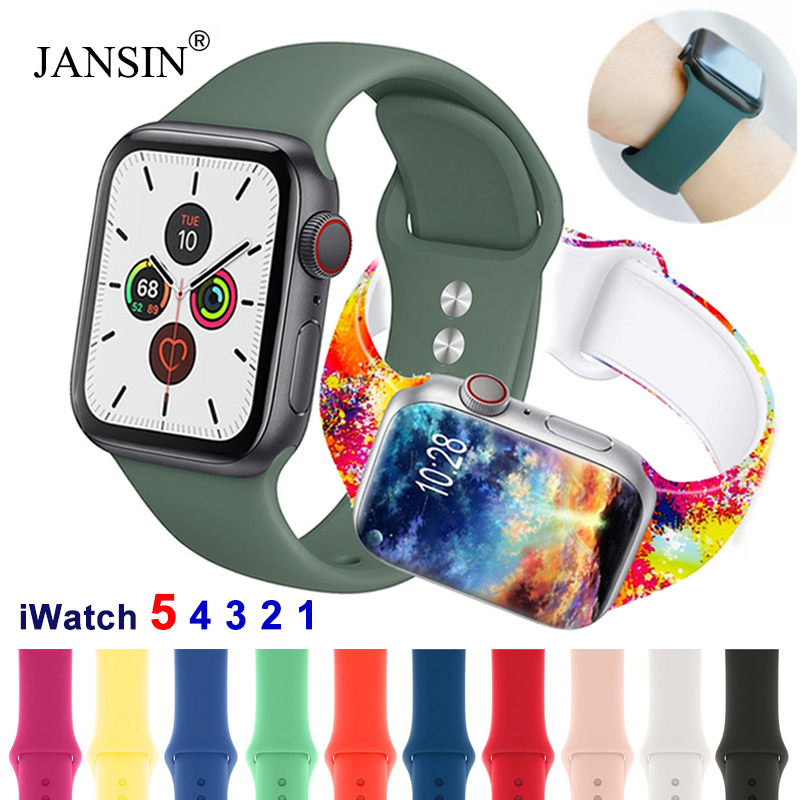 Strap For Apple Watch Band 38mm 42mm IWatch 4 Band 44mm 40mm Sport Silicone Bracelet For Apple Watch 5 4 3 2 1 Strap Accessories