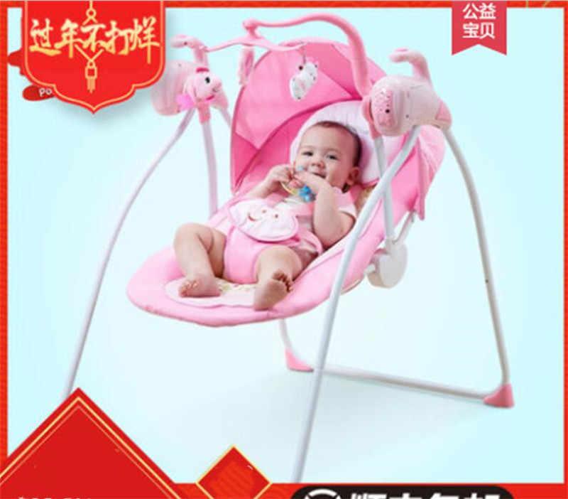 Bebê Berço Com Light Music Player Berço Balanços Para Crianças Cadeira De Balanço Do Berço Do Bebê Para Recém-nascidos