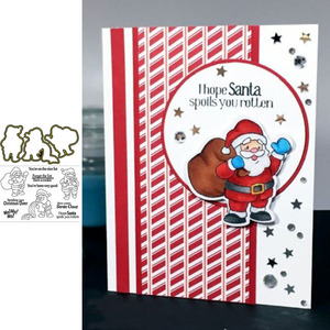 Santa Claus Clear Stamps & Metal Cutting Dies for Scrapbooking and Card Making Paper Craft 2019 New die cuts