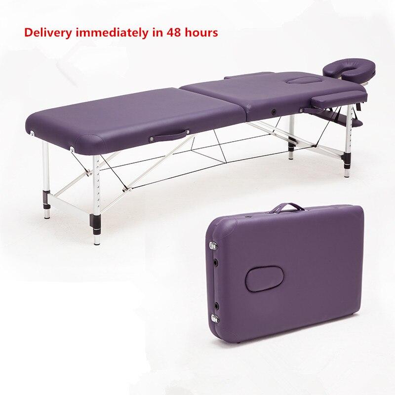 Massagem & Relaxamento Portátil de Alumínio Mesa de Massagem Relaxante com Ajustável Rosto SPA Berço Cama Tatuagem Dobrável Mobília do Salão de beleza