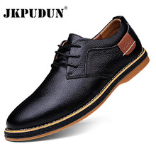 Dress-Shoes Moccasins-Loafers Lace-Up Brogue Oxfords Plus-Size Genuine-Leather Men Luxury Brand
