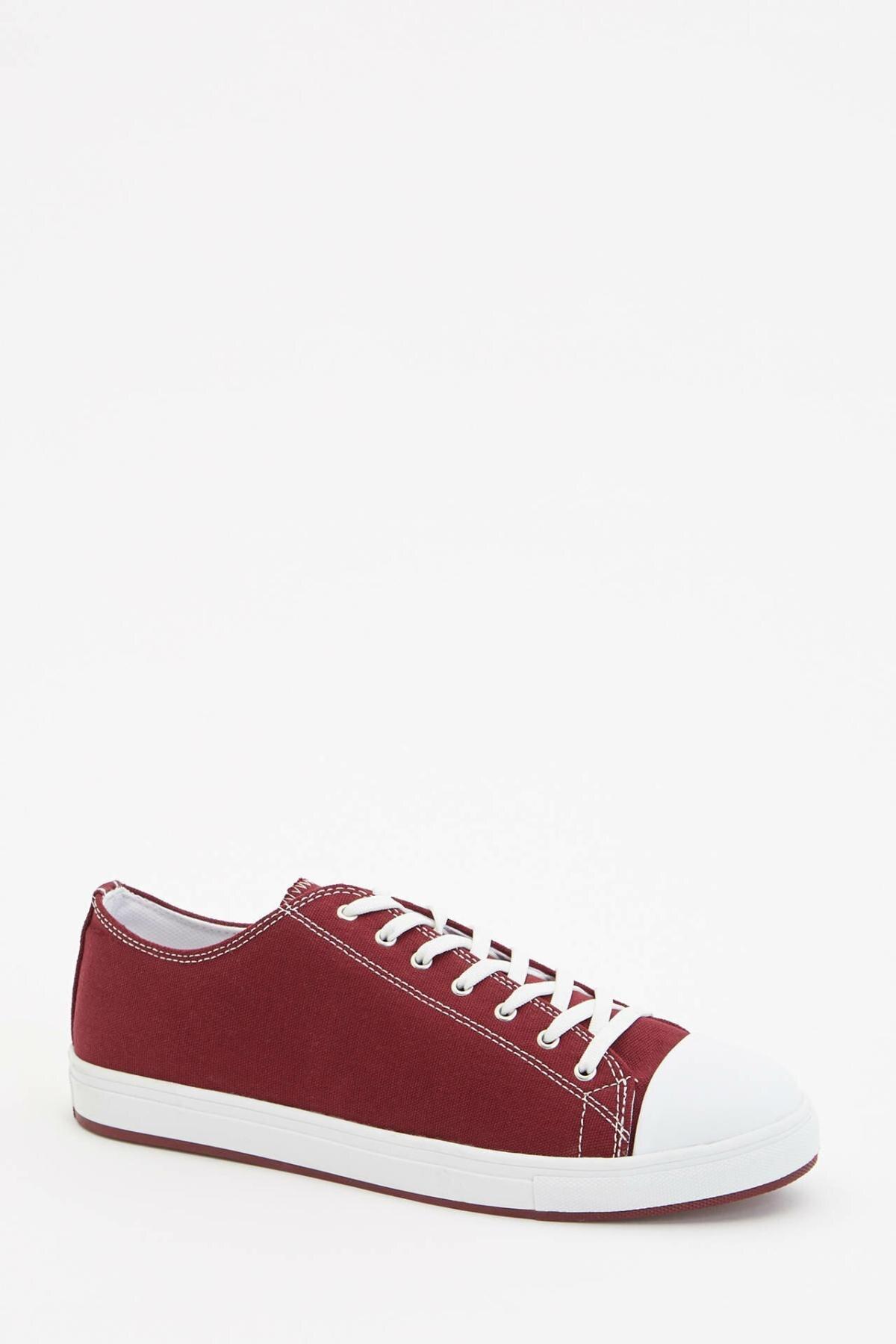 DeFacto Man Fashion Shoes High Quality Male Casual Pure Color Sneaker Men Casual Lace-up Flats Sport Shoes - L8490AZ19SP