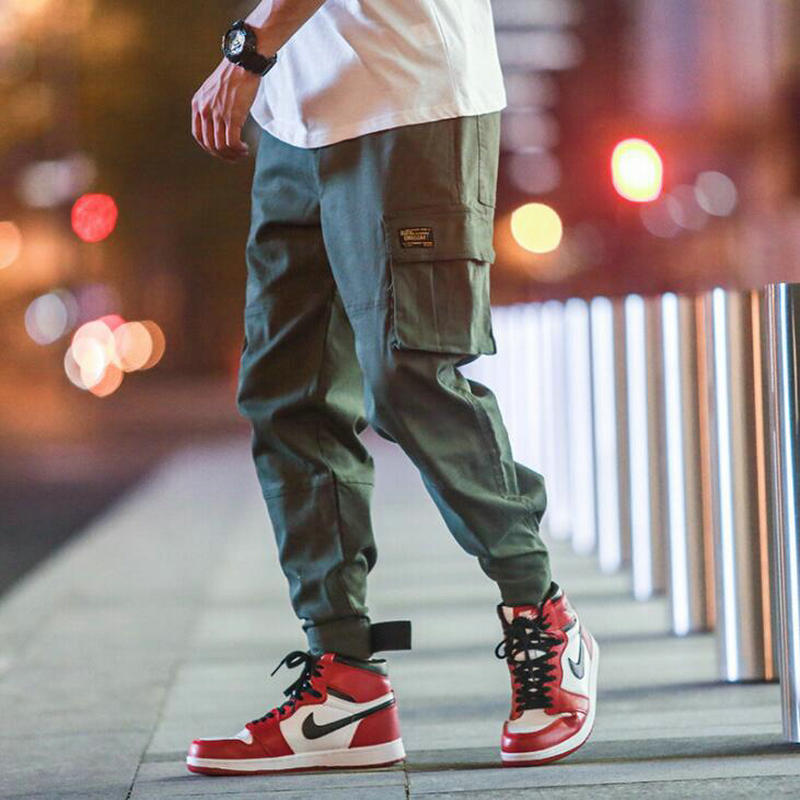 2019 New Autumn Jogger Pants Men Cargo Pants Multi-pocket Elastic Waist Harem Pant Hip Hop Casual Trousers Joggers Male