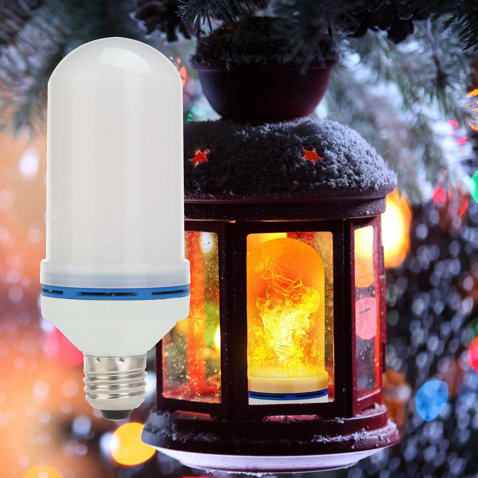 New Design 4 Modes E27/ E26 LED Flame Bulb Upside Down Effect Simulated Decorative Vintage Atmosphere Lights Lamp For Halloween