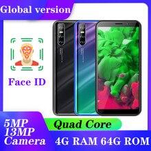 Teléfono Inteligente A71, android 5,1, cámara Global de 5MP + 13MP, identificación facial, desbloqueado, quad core, 3G, 4G RAM, 64G ROM
