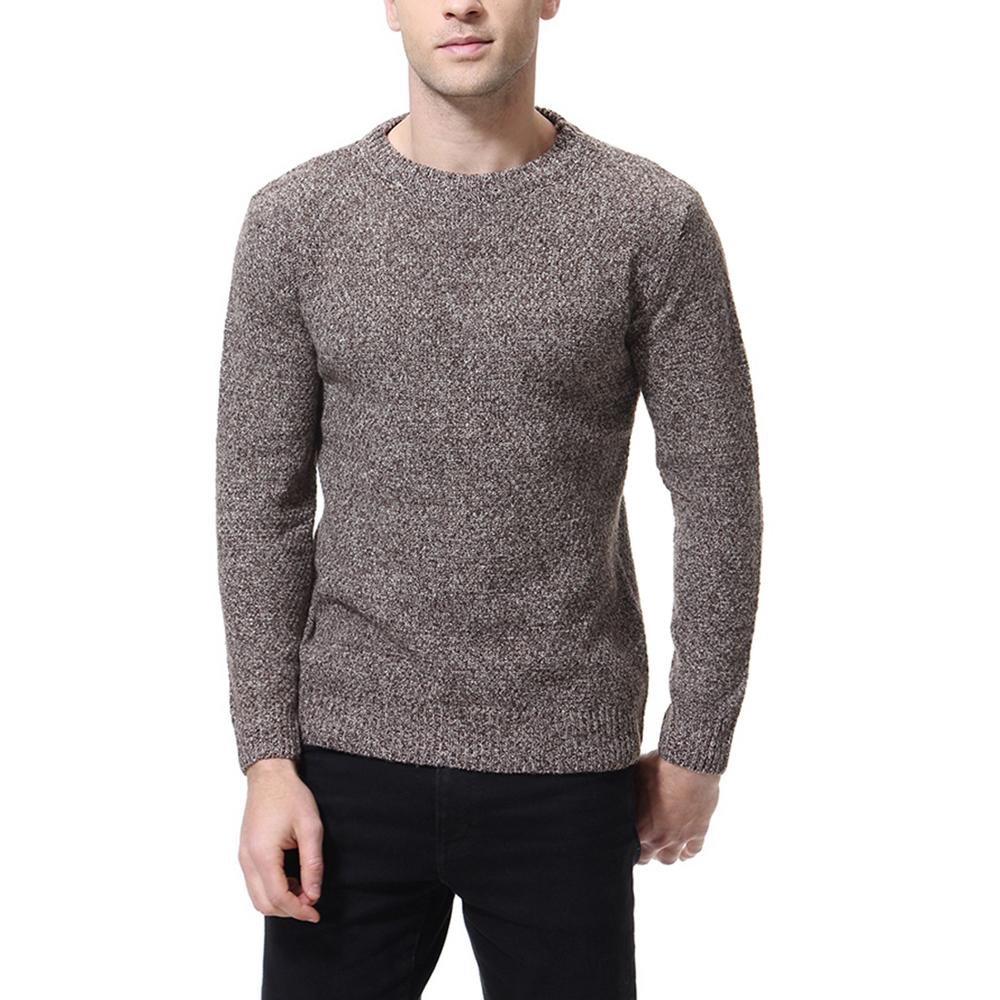 New Sweaters MOOWNUC 2019 Male Sweaters Solid Autumn Casual O-Neck Pullover Fashion Slim Windproof Bottoming Shirts Homme Men
