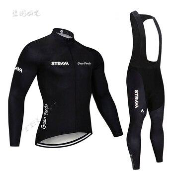 STRAVA azul marino Pro equipo de manga larga Jerseys de Ciclismo Ropa de Ciclismo Maillot Ropa de bicicleta transpirable Mtb ropas para Ciclismo