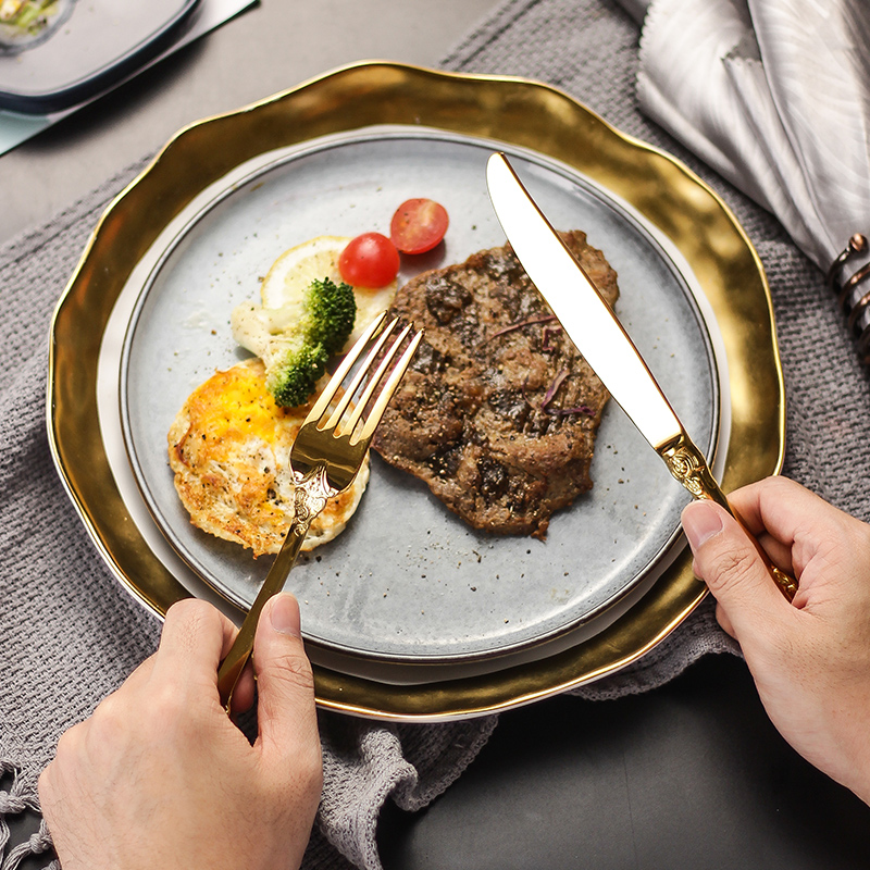 24Pcs/set Luxury Silver Gold Cutlery Set Dinnerware Flatware Set Tableware Silverware Dinner Fork Knife Spoon Drop Shipping 4