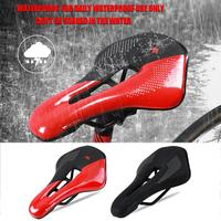 Durable Bicycle Saddle Classic Delicate Wear-resistant Bicycle Saddle PU Leather MTB Mountain Road Bike Hollow Seat Cushion