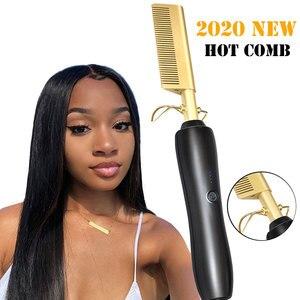 Hair Straightener Flat Irons Straightening Brush Hot Heating Comb Hair Straight Styler Corrugation Curling Iron Hair Curler Comb