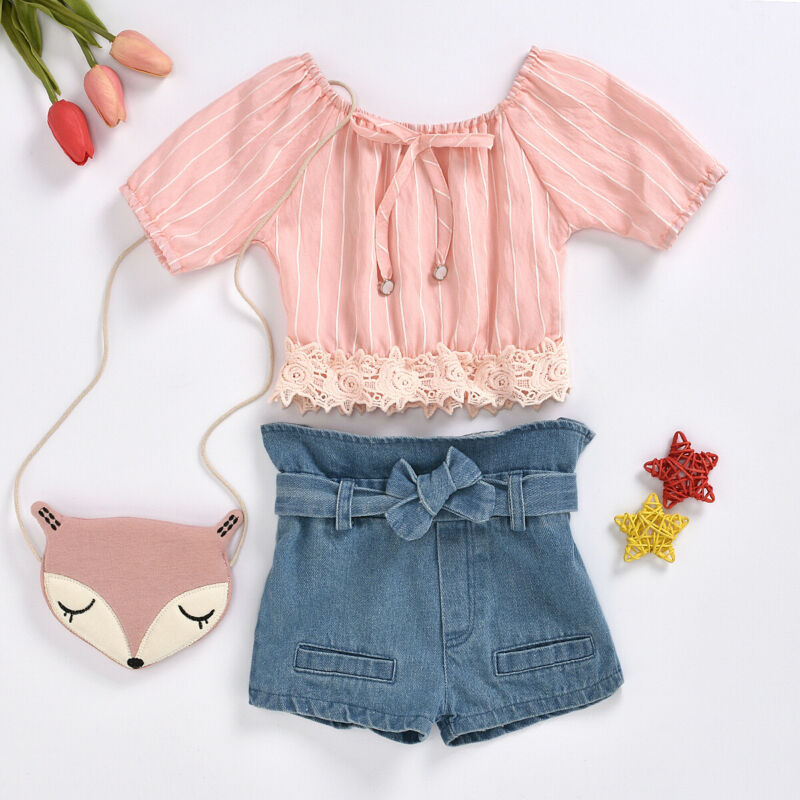 18M-5Year baby girls jeans shorts 2020 summer girl short pants for kids ripped jeans for children denim shorts 2