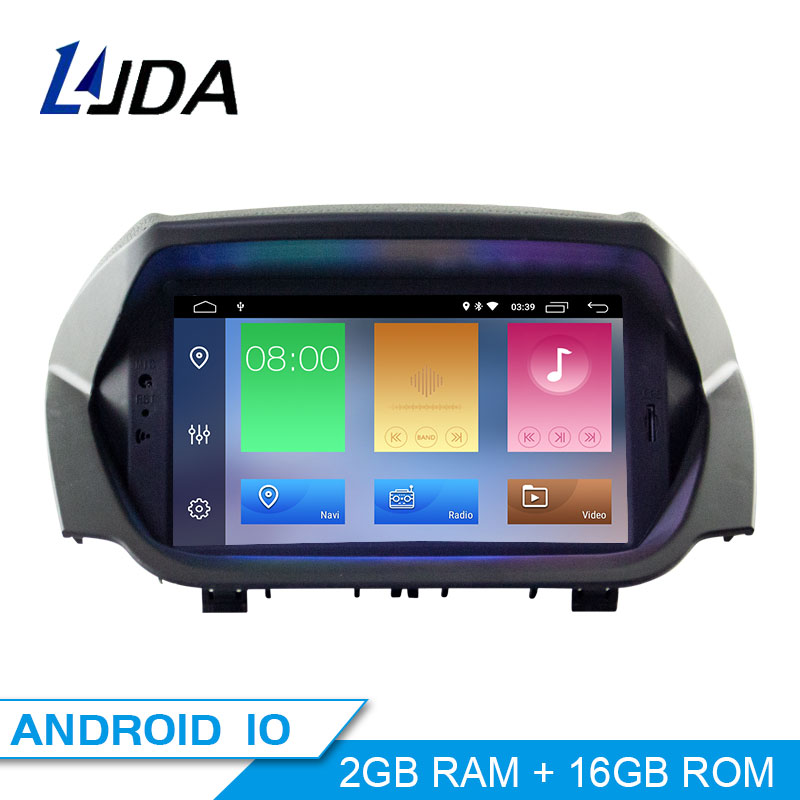 LJDA Android 10.0 Car Multimedia Player For Ford EcoSport 2013 GPS Navigation Entertainment System DVD CD Stereo 2 Din Car Radio