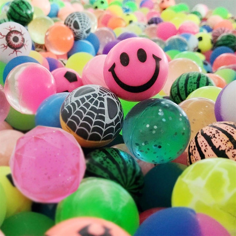 20pcs/lot Funny Toy Balls Mixed Bouncy Ball Solid Floating Bouncing Child Elastic Rubber Ball Of Pinball Bouncy Toys