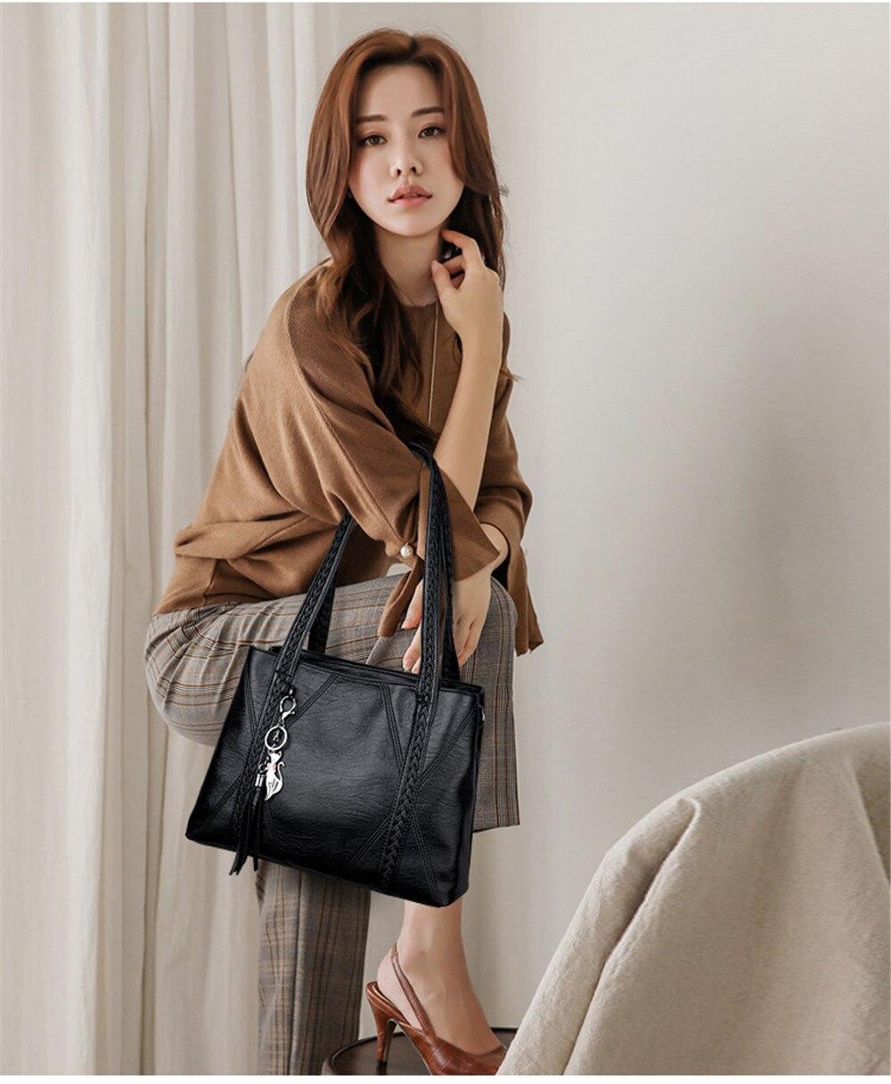 Qualidade Mulheres Tote Sacos de Borla Designer