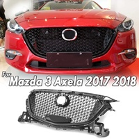 Modified Glossy Black/Diamond Front Bumper Grille Upper Grill Cover Protector ABS Plastic Car Styling For Mazda 3 Axela 2017 18