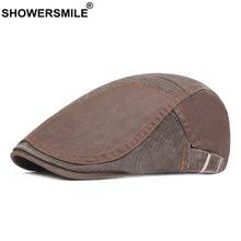 Showersmile мужской берет из хлопка Лоскутная плоская кепка