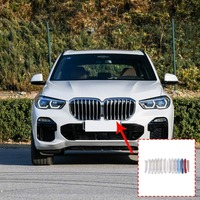 14pcs ABS Exterior Car Front Grill Strip Trim For BMW X5 G05 2019 Year Accessories