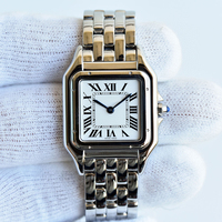 316L stainless steel material small quartz ladies watches gold and silver color 27mm*37mm
