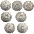 1875-1891 7 лет опционально чили 1 песо Посеребренная копия монет