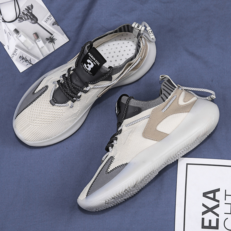 2020 New Men's Shoes Casual Fashion Sneakers Four Seasons Running Shoes Tide Shoes Men's Shoes Ins Same Lace Men's Sneakers