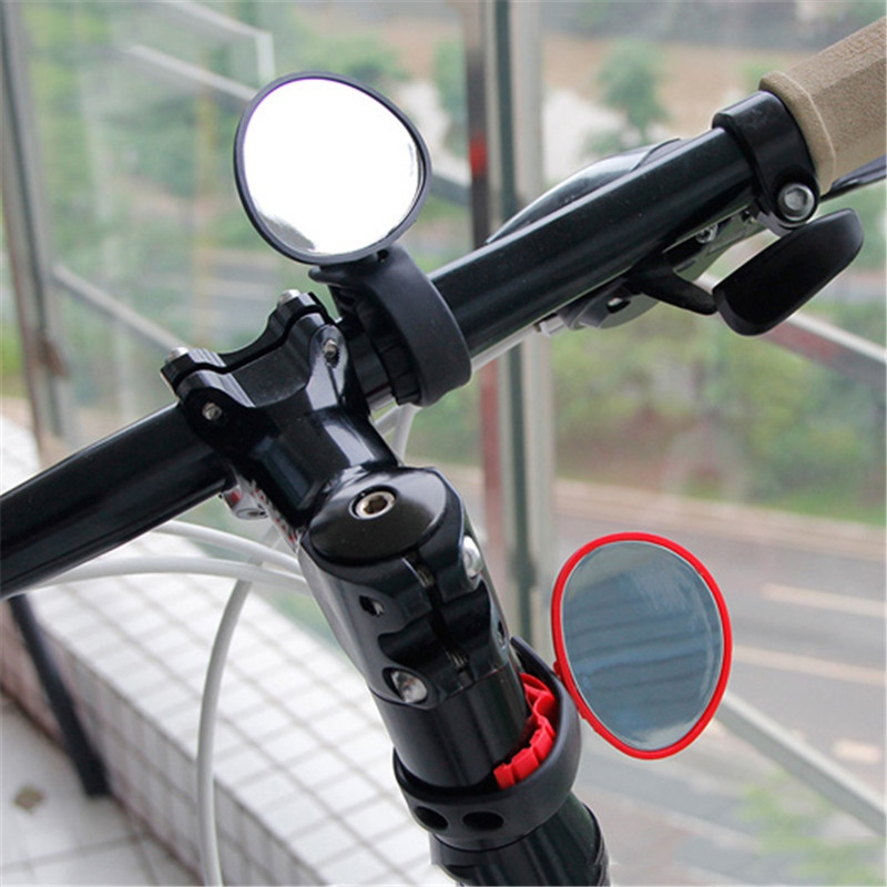 Bicycle Electric Cycling Rear View Silicone Handle Rearview Mirror Scooter Rearview Handlebar Mirrors 360-degree Rotation