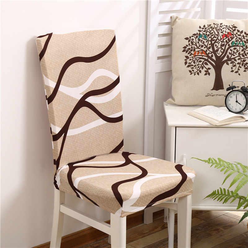 스트라이프 크로스 패턴 스판덱스 의자 커버 다이닝 룸 시트 커버 의자 보호 레스토랑 basen ogrodowy