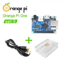 Orange Pi One+Transparent ABS Case+Power Cable, Support Android, Ubuntu, Debian Mini