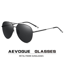 AEVOGUE Men Pilot Polarized Sunglasses Two Beams Blue Green Ocean lens Unisex Sun Glasses UV400 AE0847