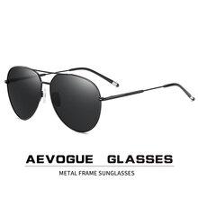 AEVOGUE erkekler Pilot polarize güneş gözlüğü iki kirişler mavi yeşil okyanus lens Unisex güneş gözlüğü UV400 AE0847