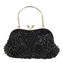 Butik De FGG zarif çerçeve kadın resmi boncuklu akşam çantalar ve çanta gelin Sequins el çantası kokteyl parti çantası