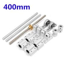 15pcs 400mm CNC Parts Optical Axis Guide Bearing Housings Aluminum Rail Shaft For 3D Printer Part Supplies  Accessories цена в Москве и Питере