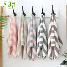 Towel Color Stripes Coral Velvet Towel Soft Beauty Towel Absorbent Hair Drying Towel li pin jin Beach Towel(China)