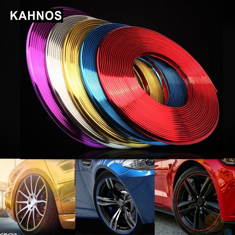 Auto Styling Rad Felgen Protector Dekorative Streifen 8 Meter Rubber Moulding Auto Fahrzeug Farbe Reifen Schutz Linie