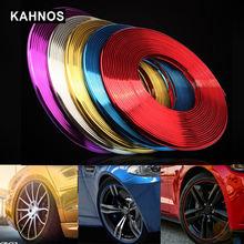 Car Styling Cerchioni Protezione Striscia Decorativa 8 Gomma Misuratore di Stampaggio Auto Veicolo di Colore Pneumatico Linea di Guardia