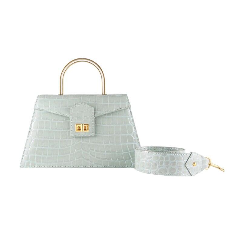 Femmes boîte rabat sac animal imprimé alligator totes sac blanc café vintage trapèze épaule sac de messager 2020 printemps été nouveau