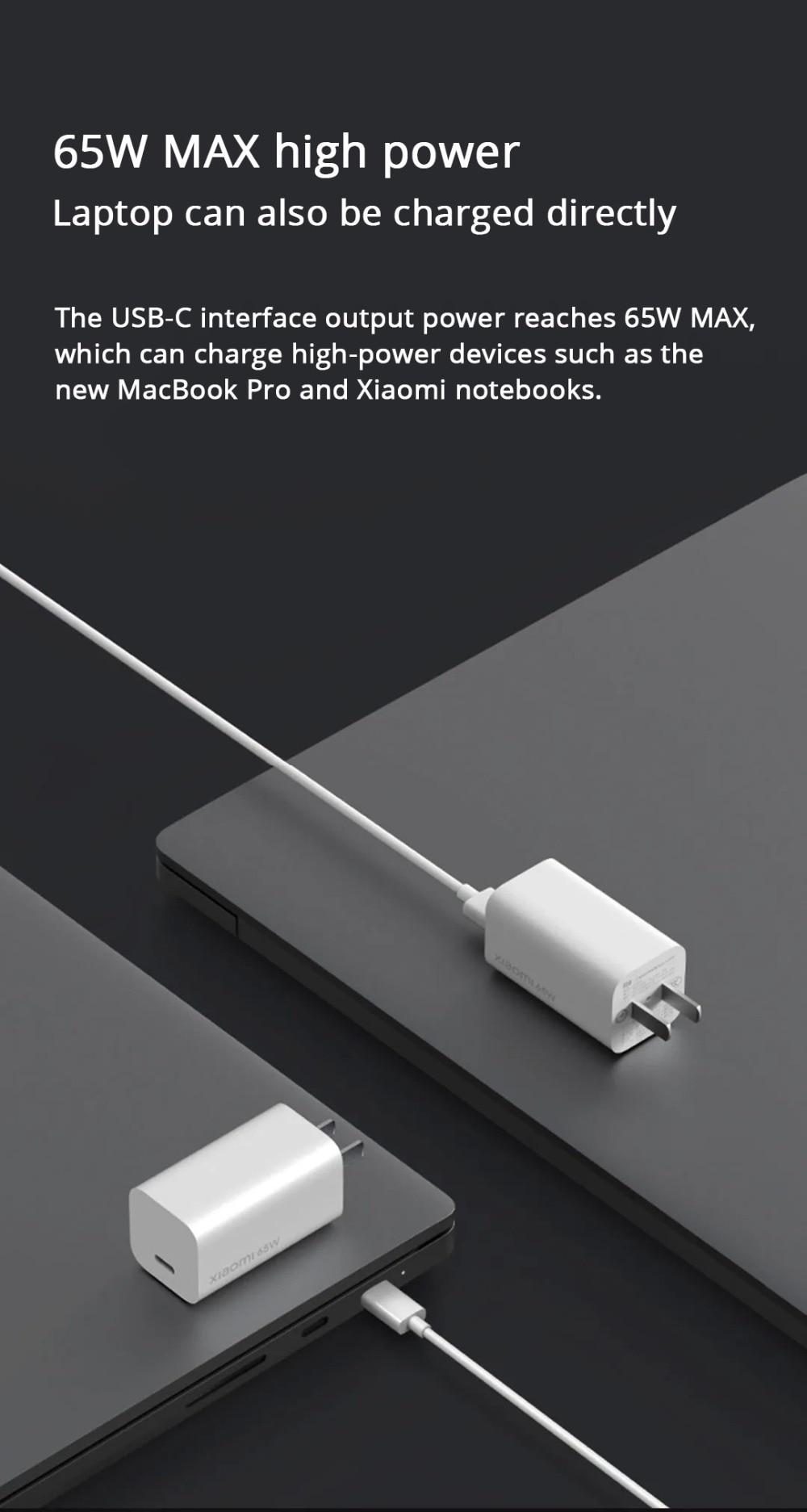 Xiaomi Mi GaN 65W Type-C USB Charger 7
