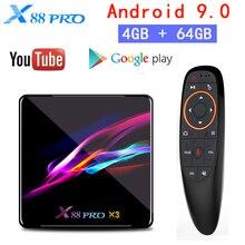 X88 PRO TV BOX Android 9.0 Amlogic S905X3 Quad Core 4GB 64GB