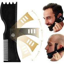 Men Beard Shaping Styling Template Comb Mustache Goatee Trim Guide Stencil Combs For Care