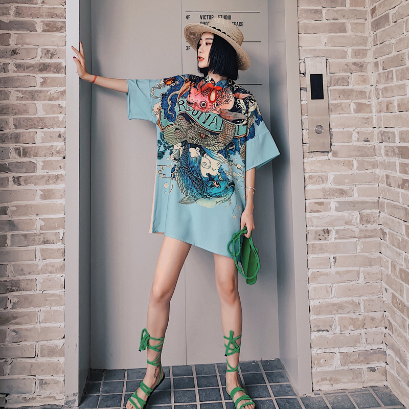 2020 Chinese Female Qipao Short Style Cheongsam Women Traditional Silk Satin Dress Dragon&phenix Chinese Dress