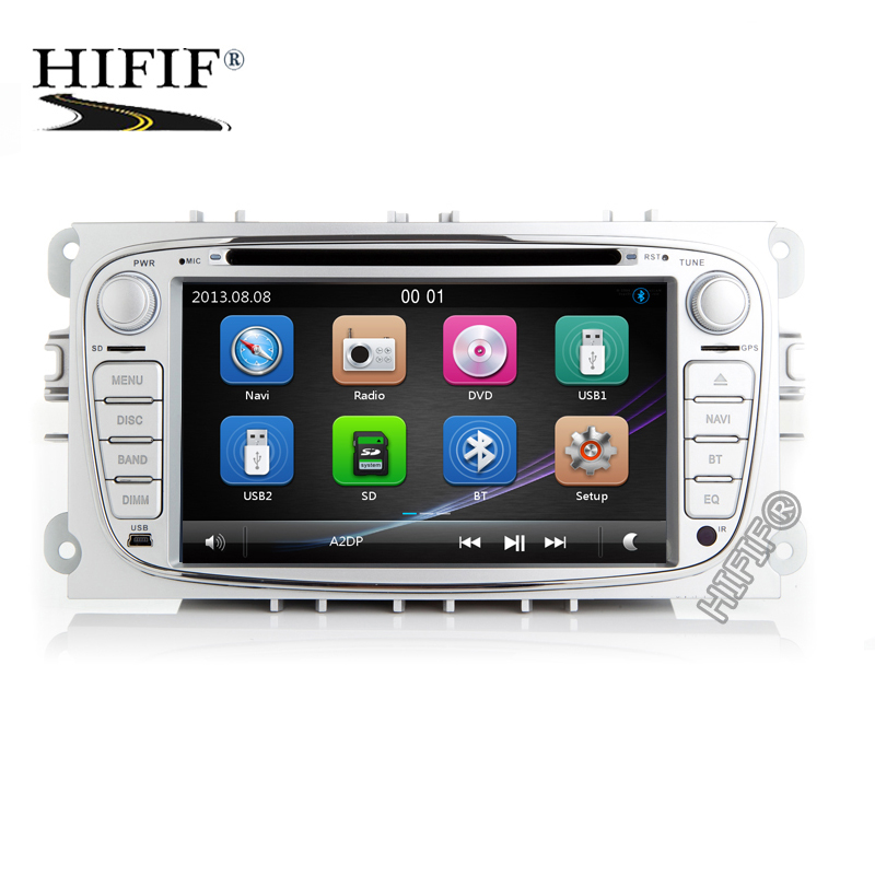 AutoRadio <font><b>2</b></font> <font><b>Din</b></font> Auto DVD-Player Für <font><b>Ford</b></font> <font><b>Focus</b></font> <font><b>2</b></font> S-Max C-Max Mondeo 4 Galaxy Kuga 2008-2010 GPS Navigation Band Recorder image