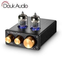 Douk audio HiFi 6J1 Tube preamplificador estéreo Clase A Mini preamplificador para amplificador de potencia Digital con Control de tono de agudos y bajos