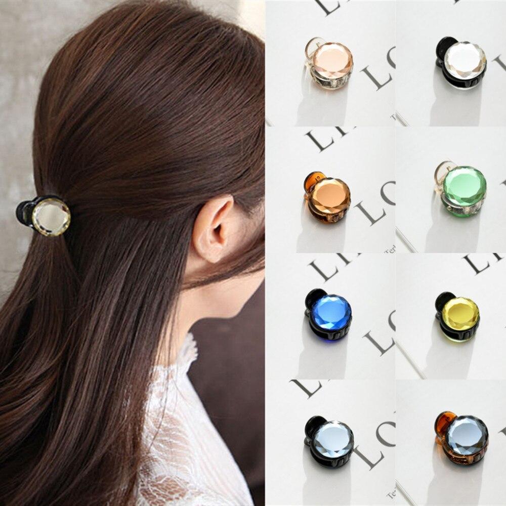 1PC Women Retro Vintage Crystal Rhinestone Mini Crown Hairpins Hair Claws Hair Clips Barrettes Hair Accessories
