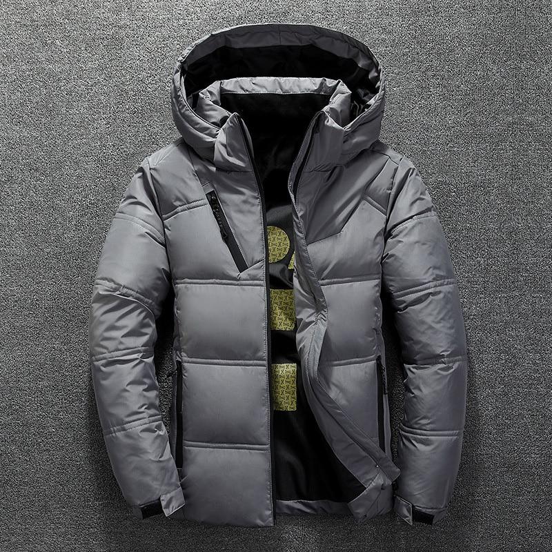 Men Winter Ultralight Duck Down Jacket Thicken Hooded Puffer Warm Outwear Coat*1