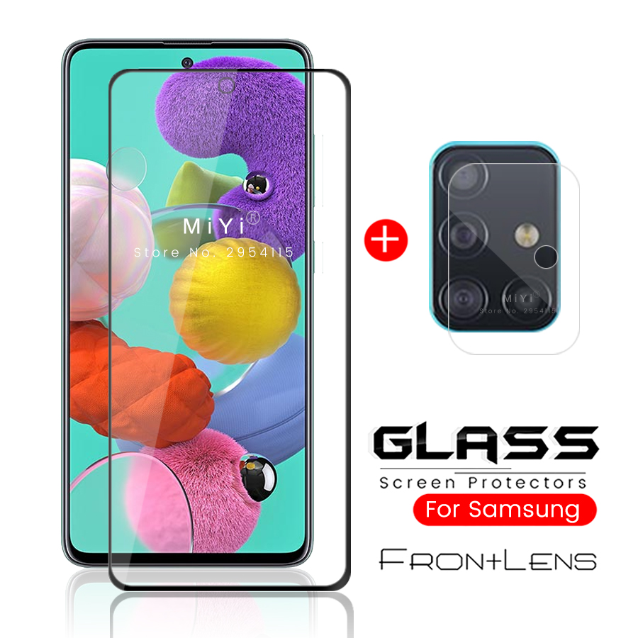 A51 Case For Samsung Galaxy A 51 Phone Cover Protective Samsunga51 Sam Glaxay With Camera Protector Lens Glas Armored Sheet 2in1