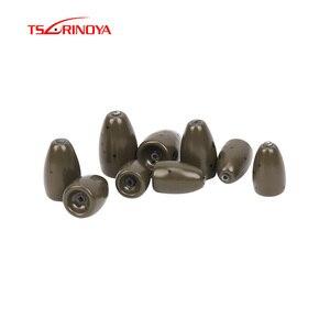 TSURINOYA Вольфрамовая пуля рыболовная грузилка 3,5 г 5,3 г 7 г пулеобразные свинцовые веса для Техасского снаряжение рыболовное снаряжение аксесс...
