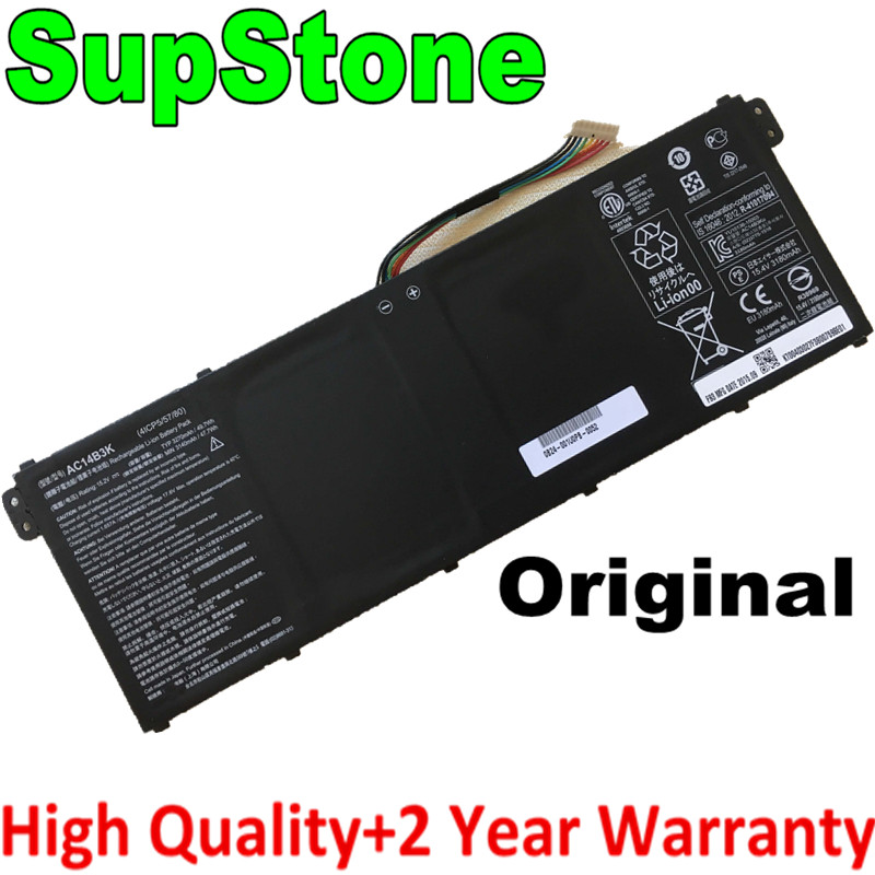 SupStone Genuine OEM AC14B3K Laptop Battery For Acer Swift 3 3S F314-51 R11 R3-131T Aspire R5-571T V5-132 S14 CB3-511 ES1-531