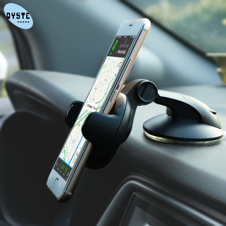 Universal Mobile Car Phone Holder For Phone in Car Holder Windshield Cell Stand support smartphone voiture Suporte Porta Celular(China)