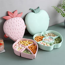 Strawberry Snack Plates Candy Container Nuts Holder Fruits Organizer Plastic Dishes Bowl Food Tray Home Kitchen Storage Box