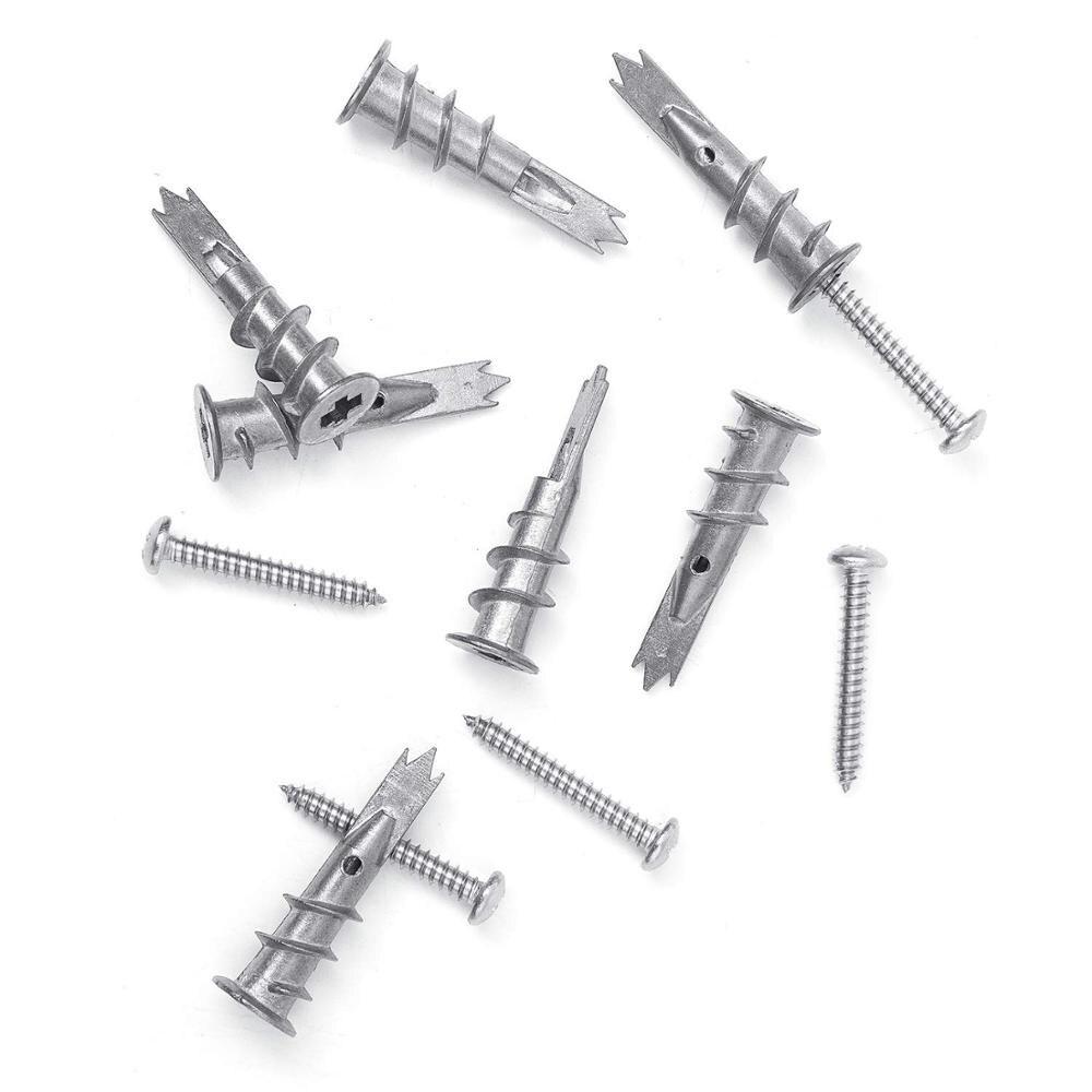 Image 3 - NINDEJIN 120pcs/set Screws Zinc Alloy Self Drilling Board Drywall Hollow wall Anchors M4.2 Tapping Screw Kit With Storage BoxScrews   -